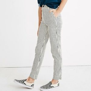 Madewell Cotton Stripe Tapered Pants
